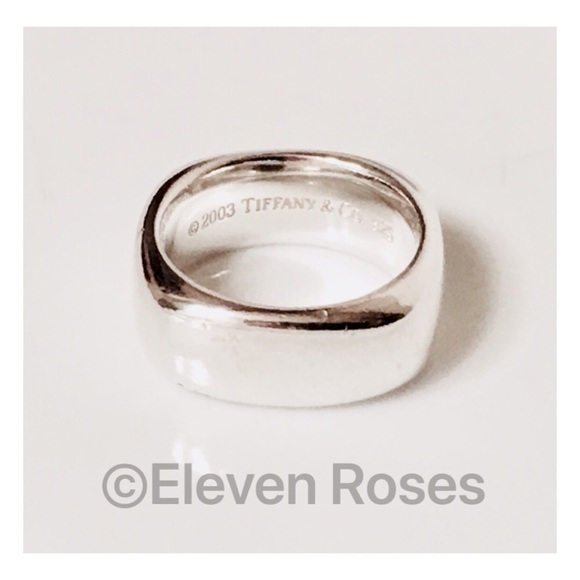 a8da7d082 Tiffany & Co. Jewelry   Tiffany Co Sterling Square Cushion Band Ring ...